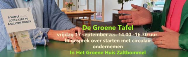 17 september: Een gesprek over starten met circulair ondernemen